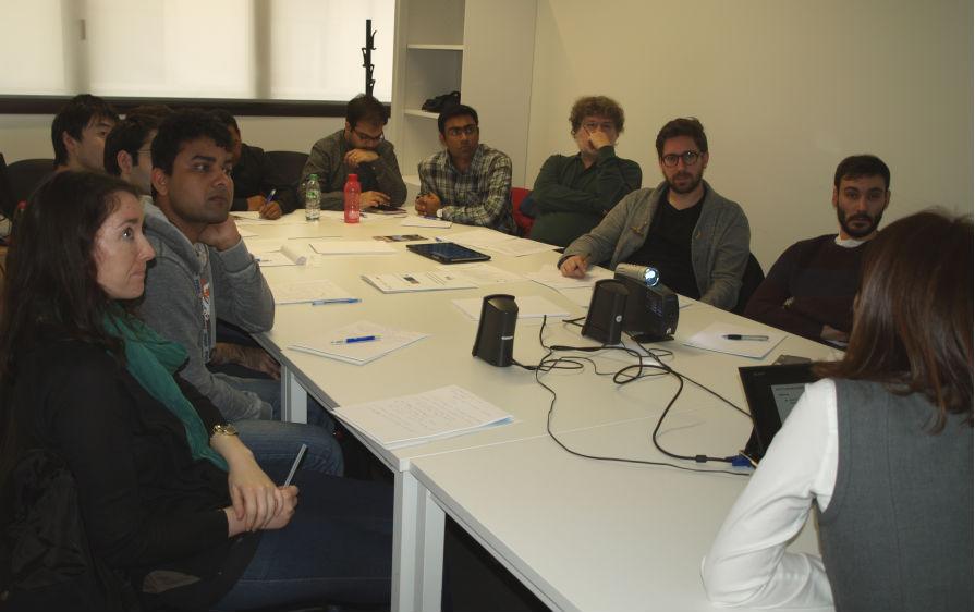 Una de las sesiones de la reunión del proyecto WALL.